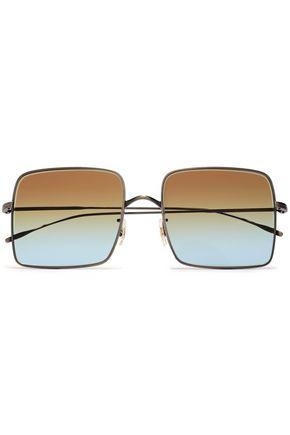 OLIVER PEOPLES Rassine square-frame burnished gold-tone sunglasses