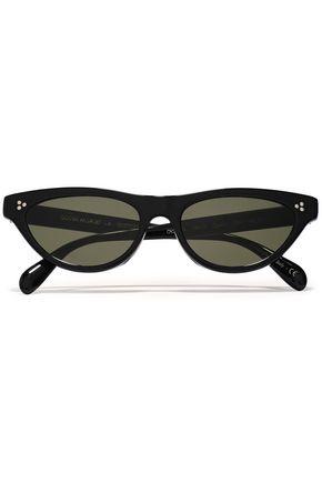 "OLIVER PEOPLES نظارات شمسية ""زاسيا"" على شكل عيني القطة من الأسيتات"