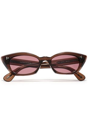 "OLIVER PEOPLES نظارات شمسية ""بيانكا"" على شكل عيني القطة من الأسيتات"