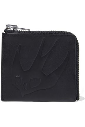 McQ Alexander McQueen Swallow embossed leather coin purse
