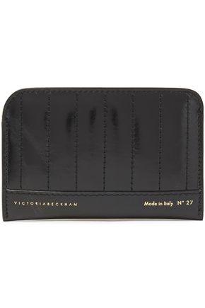 VICTORIA BECKHAM Glossed-leather cardholder