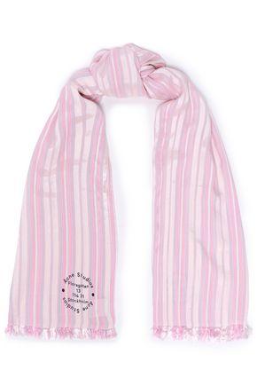 ACNE STUDIOS Frayed printed twill scarf