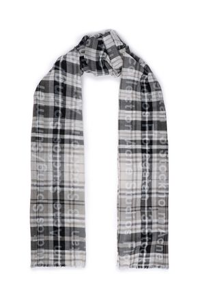 ACNE STUDIOS Frayed printed cotton-twill scarf
