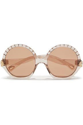 CHLOÉ Vera round-frame acetate sunglasses