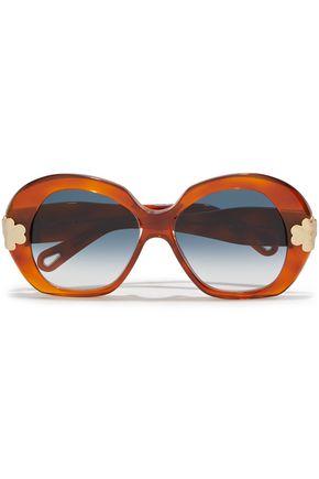 CHLOÉ Venus round-frame acetate sunglasses