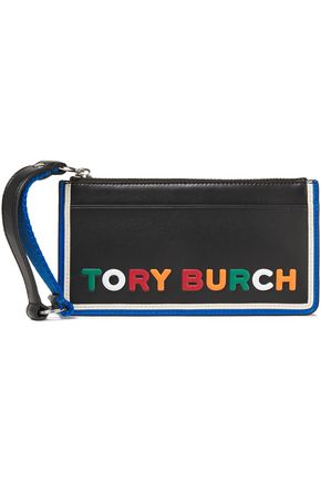TORY BURCH Logo-embossed leather pouch