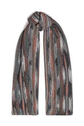 M MISSONI メタリックかぎ針編みニット スカーフ