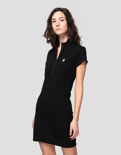 Polo dress in Milano rib