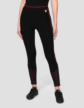Scuderia Ferrari Online Store - Women's leggings in Milano rib - Tights & Yoga Pants