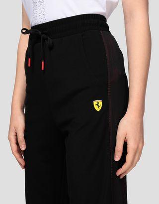 Scuderia Ferrari Online Store - Women's Milano rib joggers with mesh inserts - Joggers