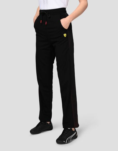 Women's jogging trousers in Milano rib with mesh inserts