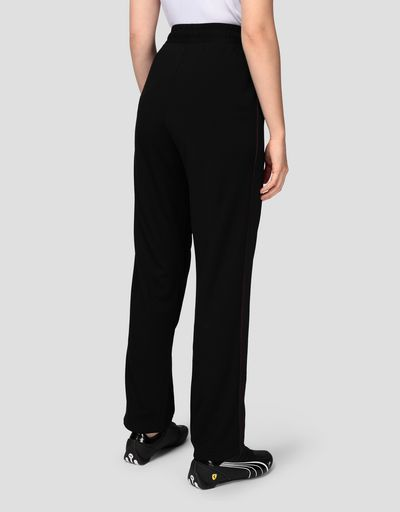 Pantalon de jogging femme en point de Milan avec empiècements en mesh