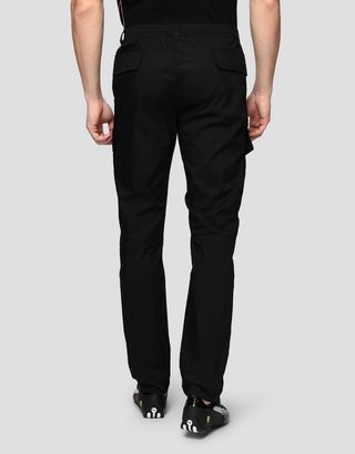 Scuderia Ferrari Online Store - Men's chino trousers in technical gabardine - 5-pocket trousers