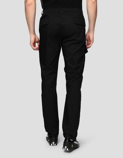 Men's chino trousers in technical gabardine