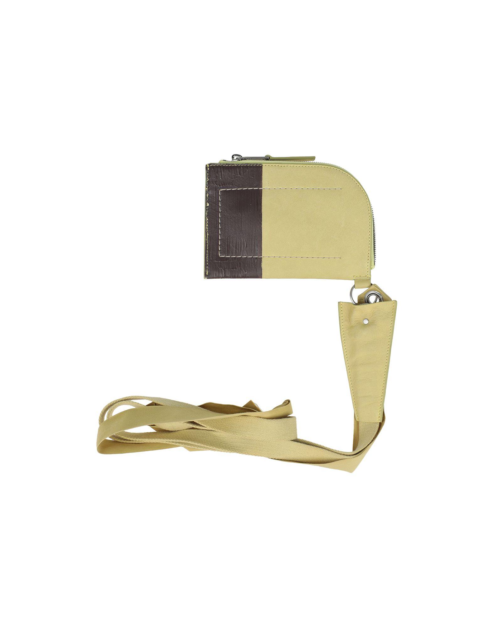 《セール開催中》RICK OWENS メンズ 財布 ライトグリーン 革