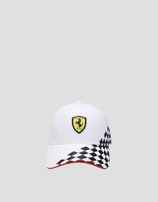 Scuderia Ferrari Online Store - Men's cap with checkered print - Baseball Caps