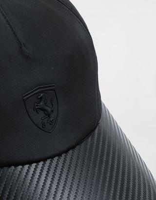 Scuderia Ferrari Online Store - Nylon cap with carbon fibre effect - Baseball Caps