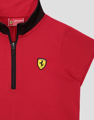 Scuderia Ferrari Online Store - Girls' mini-me Milano rib polo dress - Short Dresses