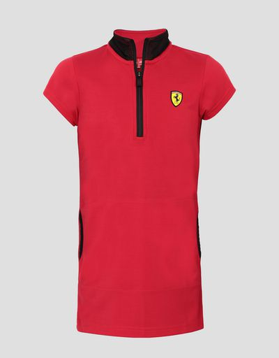 Girls' mini-me polo dress in Milano rib