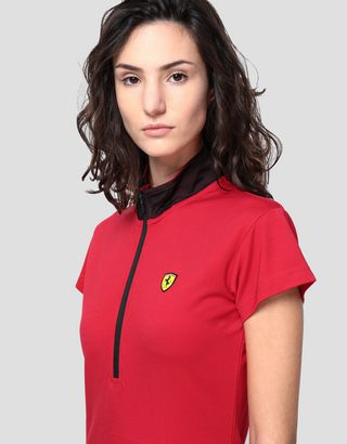 Scuderia Ferrari Online Store - Women's polo dress in Milano rib - Short Dresses