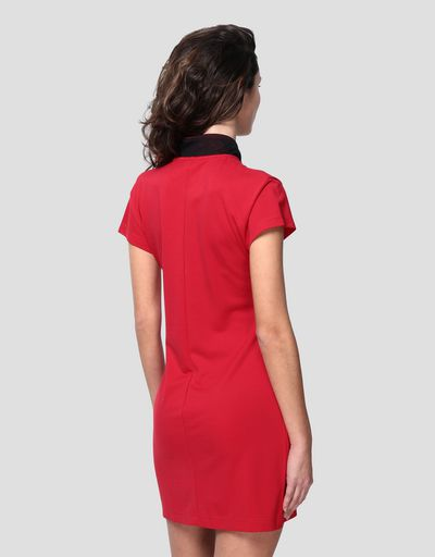 Women's polo dress in Milano rib