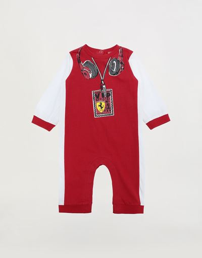 Team Scuderia Ferrari Interlock infant romper