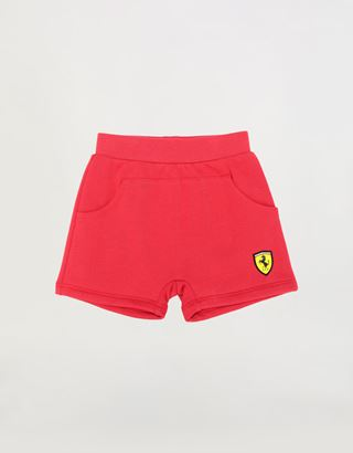 Scuderia Ferrari Online Store - Unisex infant shorts in French Terry - Shorts