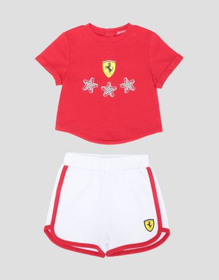Scuderia Ferrari Online Store - Infant T-shirt and shorts set - Baby & Kids Sets