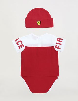 Scuderia Ferrari Online Store - Infant vest and hat set - Baby & Kids Sets