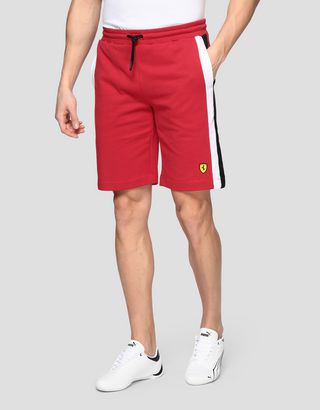 Scuderia Ferrari Online Store - Men's Racing Bermuda shorts in French Terry - Shorts