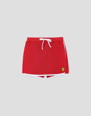 Scuderia Ferrari Online Store - Girls' French Terry skort with drawstring waist - Joggers