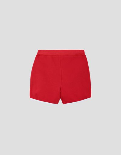 Girls' skort in French Terry with drawstring