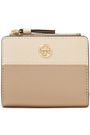 TORY BURCH Robinson mini logo-embellished textured-leather wallet