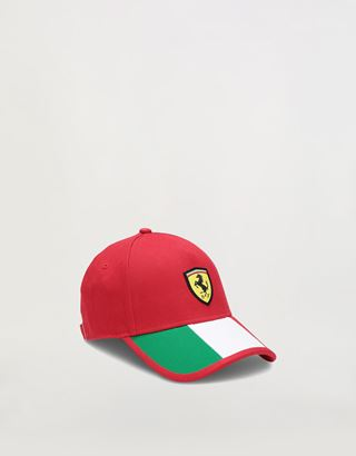 Scuderia Ferrari Online Store - Children's cap with tricolour design - Baseball Caps