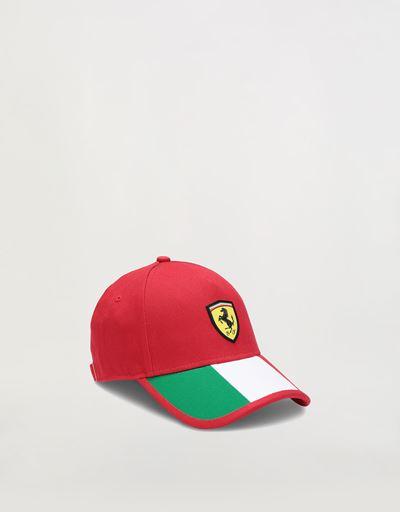 Scuderia Ferrari Online Store - Mütze für Jungen mit Trikolore - Basecaps