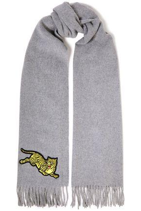 KENZO Appliquéd wool scarf