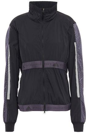 ADIDAS by STELLA McCARTNEY + adidas Run Light stretch mesh-paneled printed shell track jacket