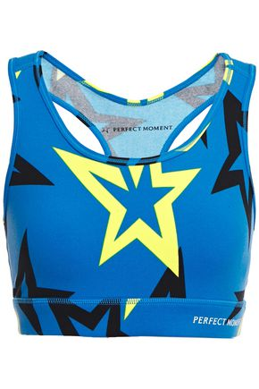 PERFECT MOMENT Starlight printed stretch-jersey sports bra