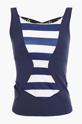 PERFECT MOMENT Tignes paneled striped stretch tank