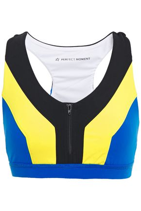 PERFECT MOMENT Vale color-block stretch sports bra
