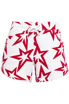 PERFECT MOMENT Starlight printed French cotton-terry shorts