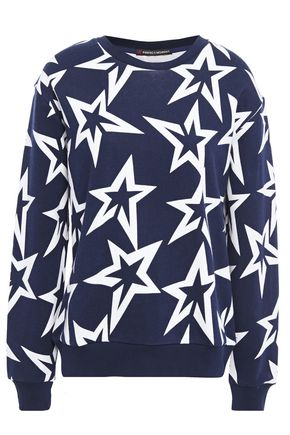 PERFECT MOMENT Starlight printed French cotton-terry sweatshirt