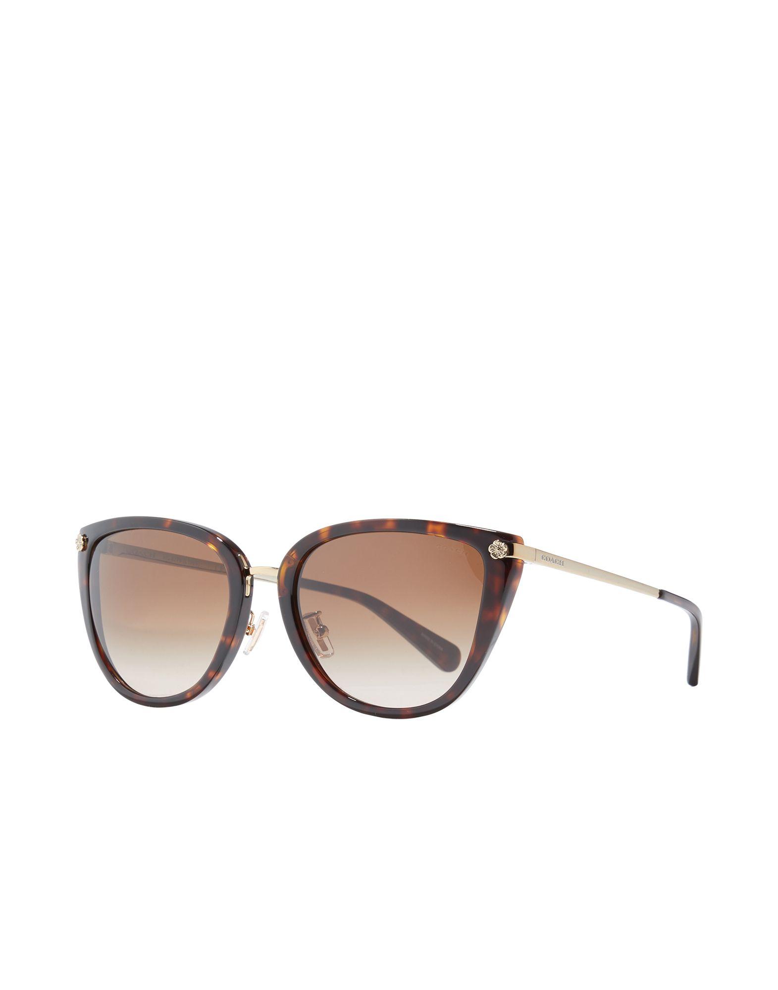 COACH Sunglasses. plastic frame, logo, gradient lenses. Acetate