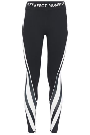 PERFECT MOMENT Printed stretch-jersey leggings