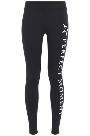 PERFECT MOMENT Logo-print stretch-jersey leggings