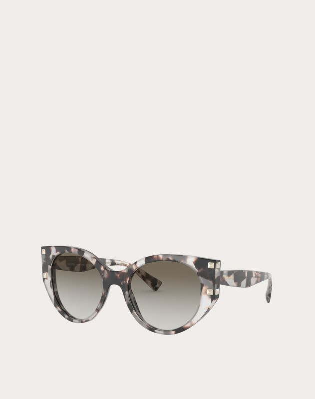 CAT-EYE ACETATE FRAME WITH STUDS