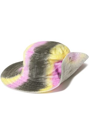 GANNI Tie-dyed denim hat