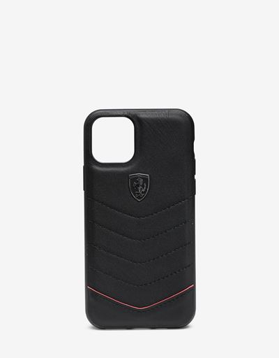 Black leather hard case for iPhone 11 Pro