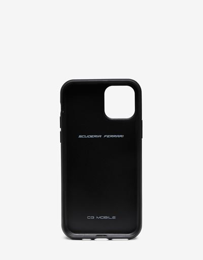 Rigid black leather case for iPhone 11 Pro