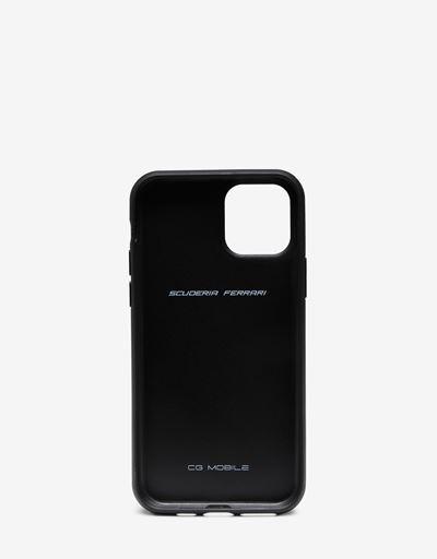 Hardcover aus schwarzem Leder für iPhone 11 Pro